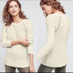 Anthropologie Sleeping On Snow Jeweled Sweater